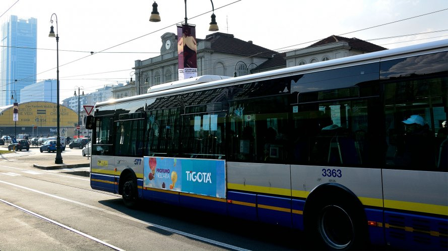 Pubblicità autobus IGPDecaux Torino Side Banner per Tigotà
